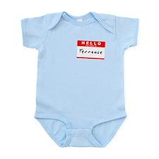 Terrance, Name Tag Sticker Infant Bodysuit