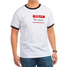 Terrance, Name Tag Sticker T