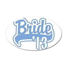 Baseball Blue Bride 2013 22x14 Oval Wall Peel