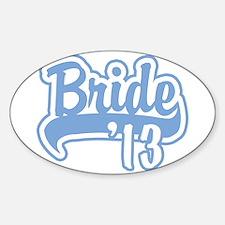 Baseball Blue Bride 2013 Sticker (Oval)