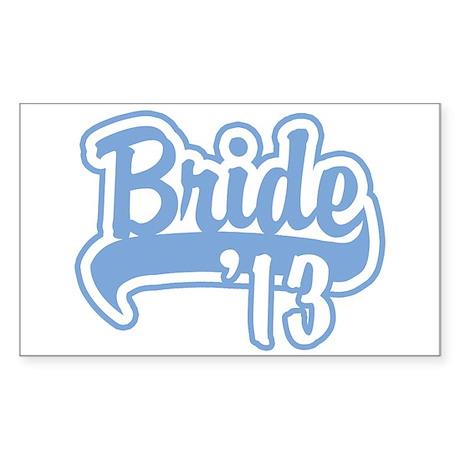 Baseball Blue Bride 2013 Sticker (Rectangle)