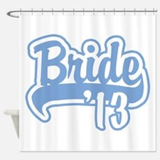 Baseball Blue Bride 2013 Shower Curtain