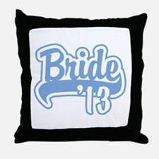 Baseball Blue Bride 2013 Throw Pillow