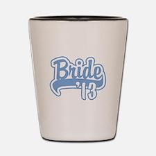 Baseball Blue Bride 2013 Shot Glass