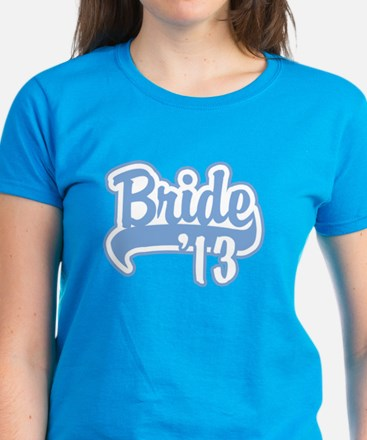 Baseball Blue Bride 2013 Women's Dark T-Shirt