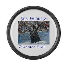 Sea World Large Wall Clock