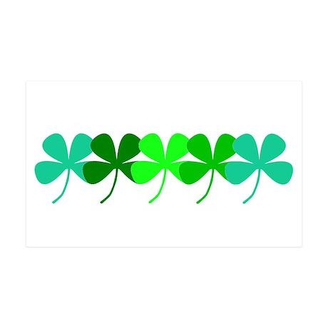 Four Leaf Clover Irish 38.5 x 24.5 Wall Peel Decal