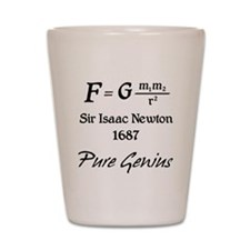 Sir Isaac Newton Shot Glass