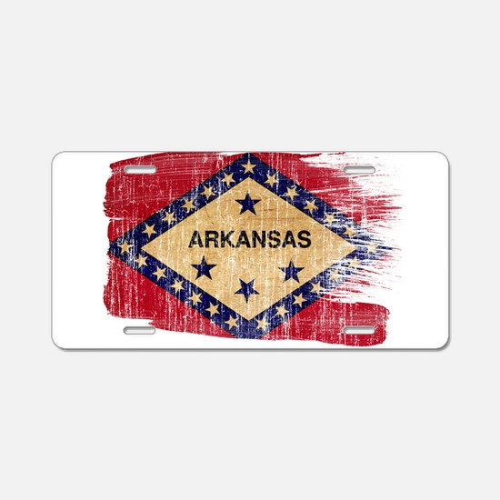 Arkansas Flag Aluminum License Plate