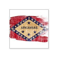"""Arkansas Flag Square Sticker 3"""" x 3"""""""