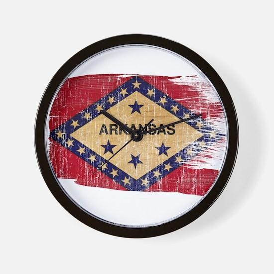 Arkansas Flag Wall Clock