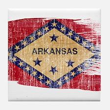 Arkansas Flag Tile Coaster