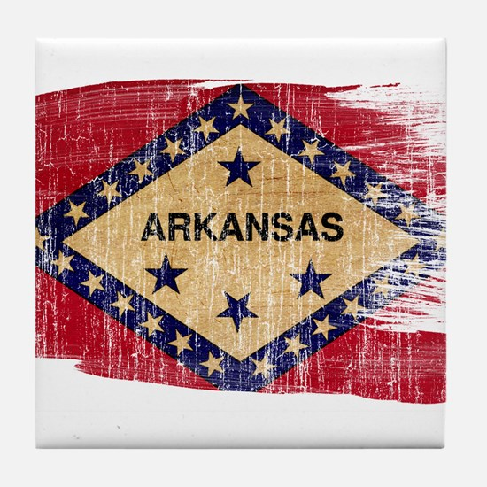 Arkansas Flag Tile Coaster