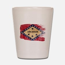 Arkansas Flag Shot Glass