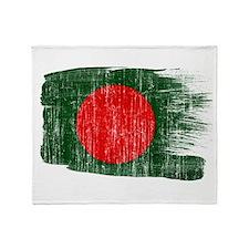 Bangladesh Flag Throw Blanket