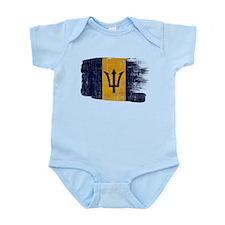 Barbados Flag Infant Bodysuit