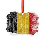 Belgium Flag Picture Ornament