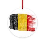 Belgium Flag Ornament (Round)