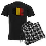 Belgium Flag Men's Dark Pajamas