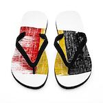 Belgium Flag Flip Flops
