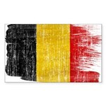 Belgium Flag Sticker (Rectangle 10 pk)