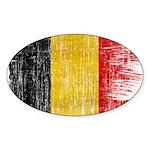 Belgium Flag Sticker (Oval 50 pk)