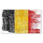 Belgium Flag Sticker (Rectangle)