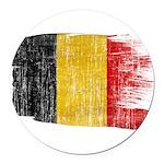Belgium Flag Round Car Magnet