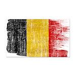 Belgium Flag Rectangle Car Magnet