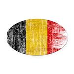 Belgium Flag Oval Car Magnet