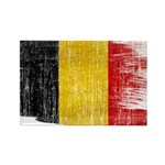 Belgium Flag Rectangle Magnet (10 pack)