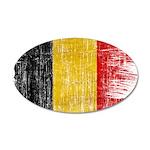 Belgium Flag 22x14 Oval Wall Peel
