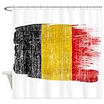 Belgium Flag Shower Curtain