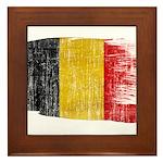 Belgium Flag Framed Tile