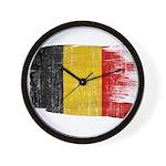 Belgium Flag Wall Clock