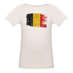 Belgium Flag Organic Baby T-Shirt
