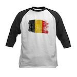 Belgium Flag Kids Baseball Jersey