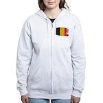 Belgium Flag Women's Zip Hoodie