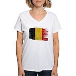 Belgium Flag Women's V-Neck T-Shirt