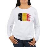 Belgium Flag Women's Long Sleeve T-Shirt