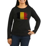 Belgium Flag Women's Long Sleeve Dark T-Shirt