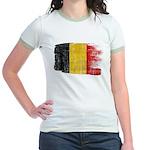 Belgium Flag Jr. Ringer T-Shirt