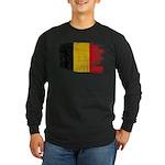 Belgium Flag Long Sleeve Dark T-Shirt