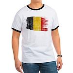 Belgium Flag Ringer T