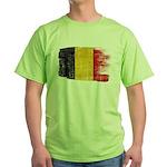 Belgium Flag Green T-Shirt