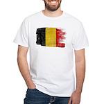 Belgium Flag White T-Shirt