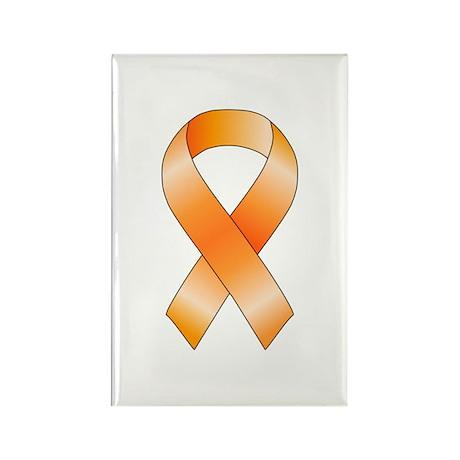 Orange Ribbon Rectangle Magnet