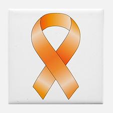 Orange Ribbon Tile Coaster
