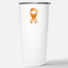 Orange Ribbon Stainless Steel Travel Mug