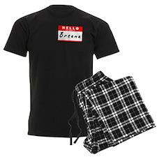 Breana, Name Tag Sticker pajamas